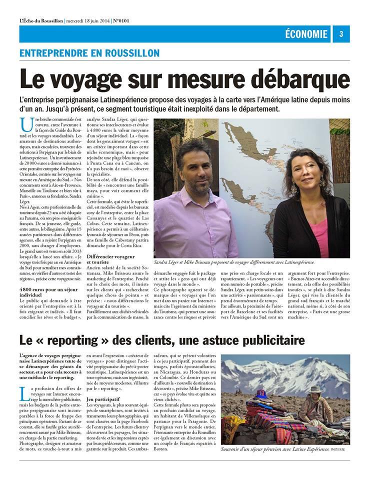 Interview Echo du Roussillon