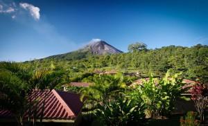Vue sur le volcan Arenal depuis le Arenal Volcano Inn
